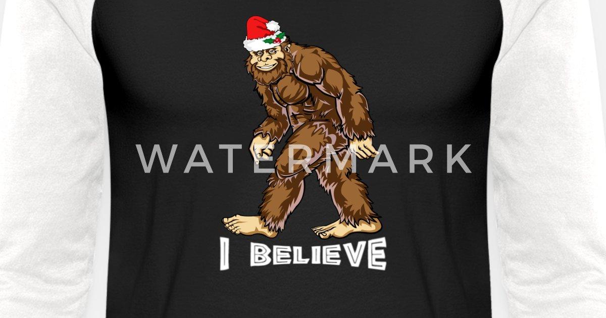 d113374e Bigfoot Christmas Shirt Boys Kids Youth Women Men Unisex Baseball T-Shirt |  Spreadshirt