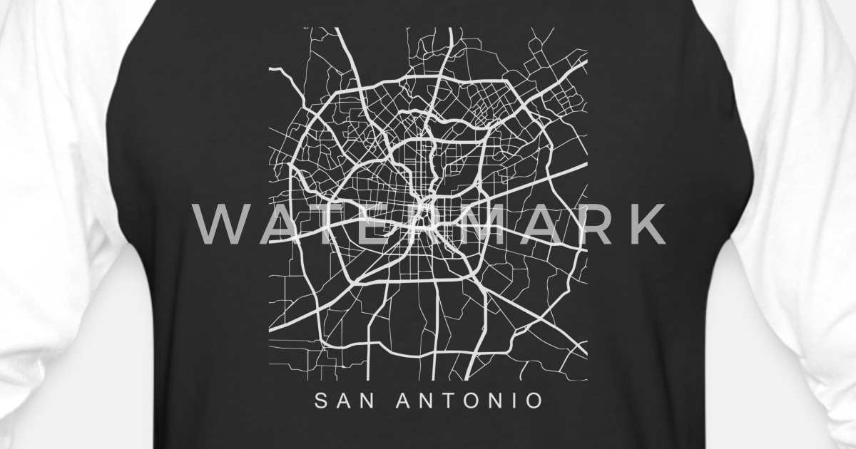 San Antonio Tx Minimalist City Street Map Light Design By