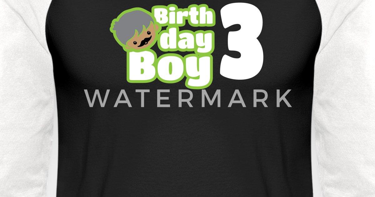 a52c8639 Birthday Boy three - 3 Year Old Birthday Shirt Unisex Baseball T-Shirt |  Spreadshirt