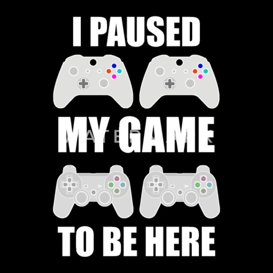 I Paused My Game To Be Here Kids Tshirt Gaming Xmas Christmas Boys Girls Tee