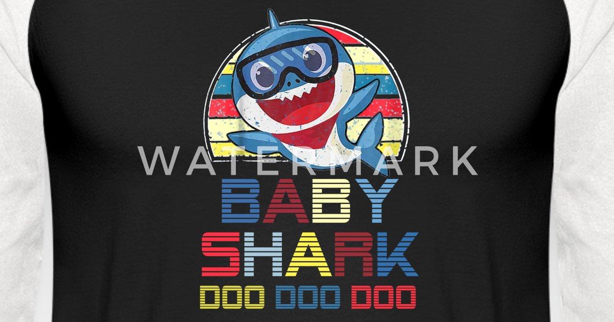 70ea5b69 Retro Vintage Baby Shark Doo Doo Doo Unisex Baseball T-Shirt | Spreadshirt