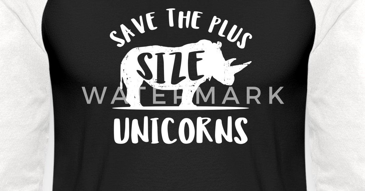 7a8c9edaf Funny chubby plus size unicorn rhino shirt Unisex Baseball T-Shirt |  Spreadshirt