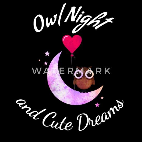 Love Owls Goodnight Animal T-Shirt-Owl Lovers Gift Unisex