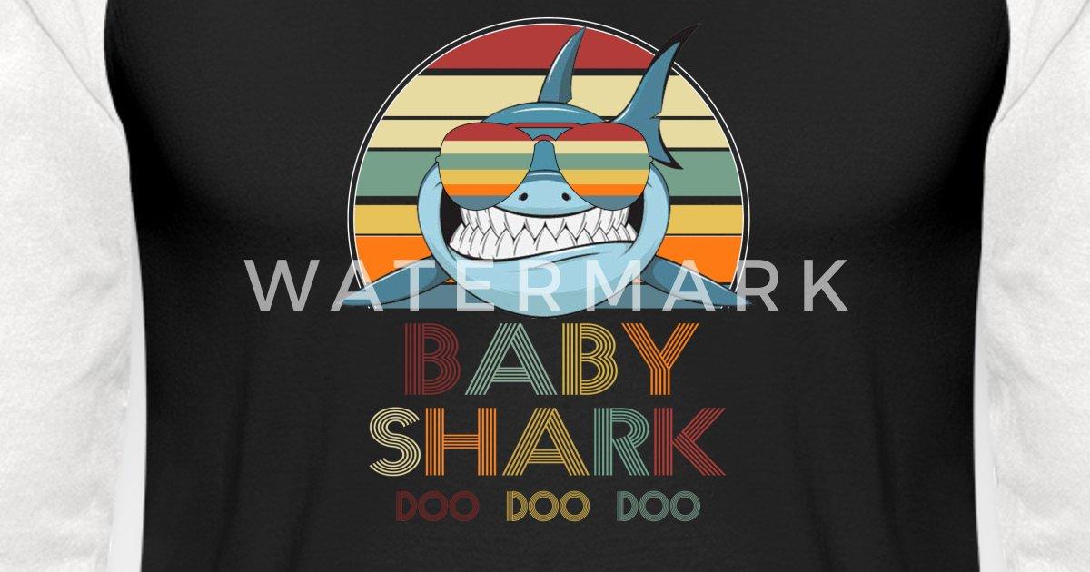 80b96ece Retro Vintage Baby Shark T shirt gift for Father Unisex Baseball T-Shirt |  Spreadshirt