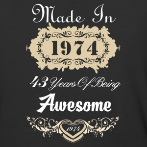 Made in 1974 43 years of being awesome - Baseball T-Shirt