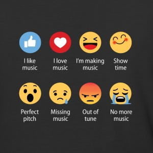 Music emojication funny - Baseball T-Shirt