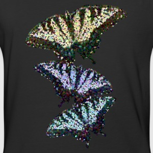 Butterfly Pointillism - Baseball T-Shirt