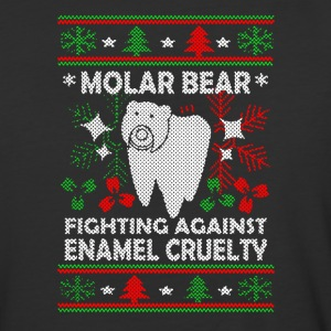 Molar Bear Ugly Christmas Shirt - Baseball T-Shirt