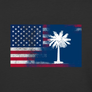 South Carolina American Flag - Baseball T-Shirt
