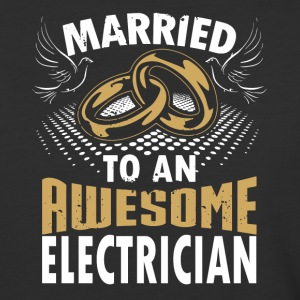 Married To An Awesome Electrician - Baseball T-Shirt