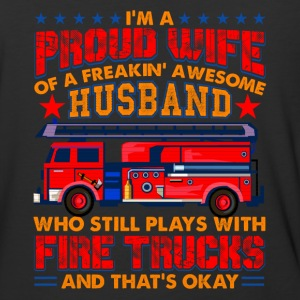 Proud Wife Of A Firefighter Shirt - Baseball T-Shirt