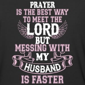 Messing With My Husband Is Faster T Shirt - Baseball T-Shirt