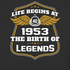 Life Beigns At 1953 The Birth Of Legends - Baseball T-Shirt