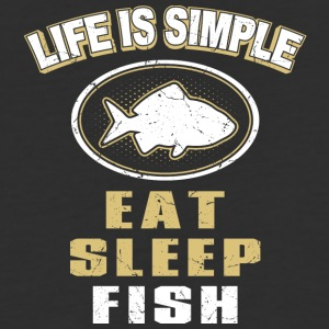 Eat Sleep Fish - Baseball T-Shirt