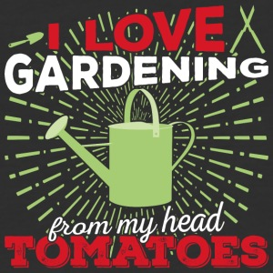 I love gardening from my head tomatoes (light) - Baseball T-Shirt
