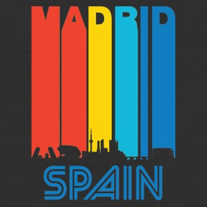 Retro Madrid Skyline - Baseball T-Shirt