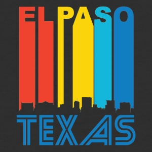 Retro El Paso Skyline - Baseball T-Shirt