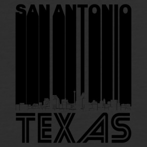 Retro San Antonio Texas Skyline - Baseball T-Shirt