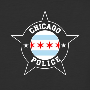 Chicago Police T Shirt - Chicago Flag - Baseball T-Shirt