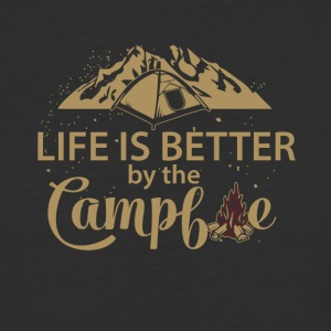 Life is better by the campfire - Baseball T-Shirt