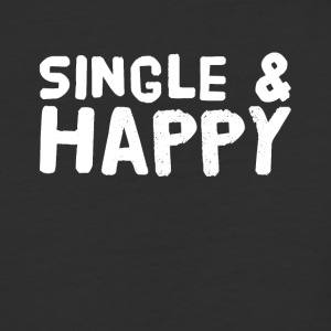 Single and happy - Baseball T-Shirt