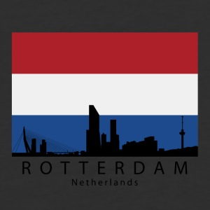 Rotterdam Netherlands Skyline Dutch Flag - Baseball T-Shirt