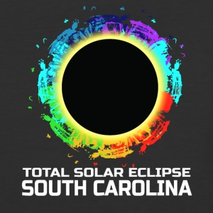 Colorful Total Solar Eclipse South Carolina - Baseball T-Shirt