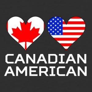 Canadian American Hearts - Baseball T-Shirt
