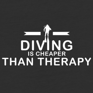 Diving is cheaper than therapy - Baseball T-Shirt
