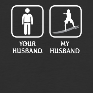 Husband Surfing Love- cool shirt,geek hoodie,tank - Baseball T-Shirt