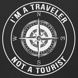 I'm a Traveler, Not a Tourist - Baseball T-Shirt