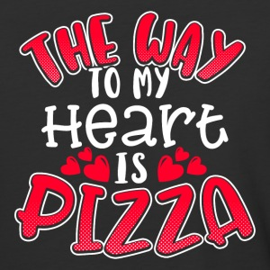 The way to my heart is PIZZA - Baseball T-Shirt