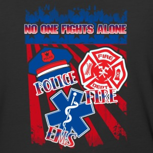 Police Fire EMS No One Fights Alone Shirt - Baseball T-Shirt