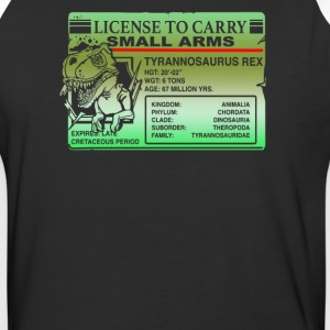 License to carry small Arms T Rex - Baseball T-Shirt