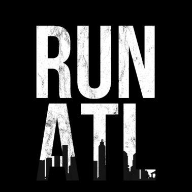 d11285ca Run ATL TShirt - Atlanta Running Shirt for Runners - Unisex Baseball T-Shirt