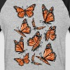 Geometric Monarch Butterfly  - Baseball T-Shirt