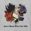 T-rex Mascot Don't Mess with the USA - Baseball T-Shirt