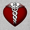 Heart & Caduceus Symbol - Baseball T-Shirt