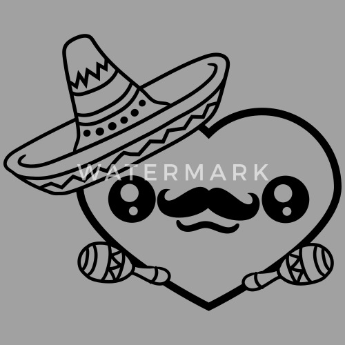 Rattles Sombrero Hat Mustache Mexican South Americ Unisex Baseball T