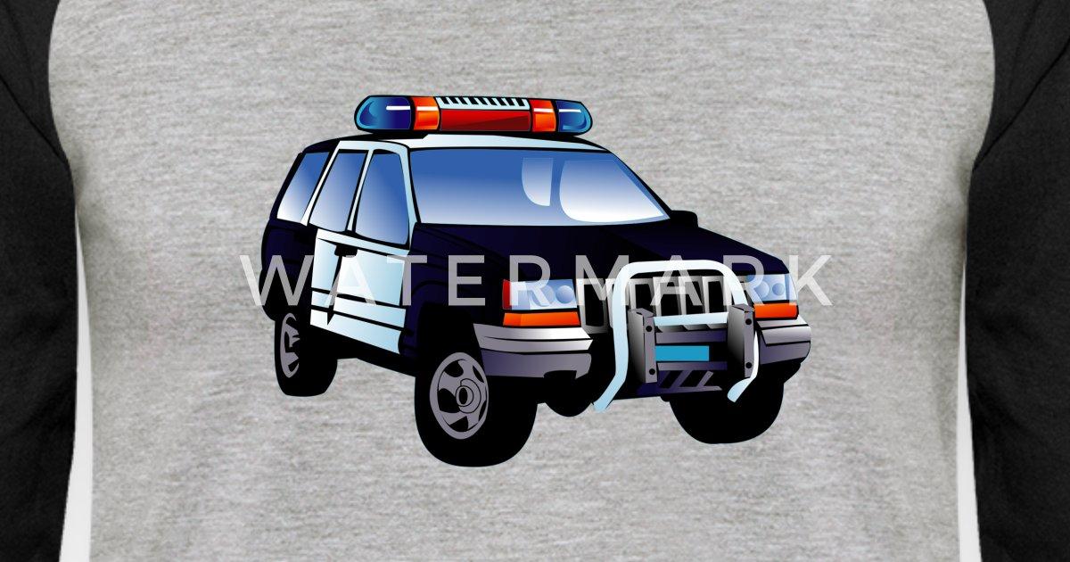 Police Car Kids Unisex Baseball T Shirt Spreadshirt