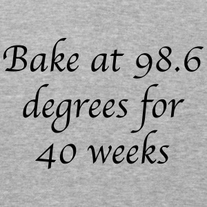 Bake at 98.6 degrees - Baseball T-Shirt