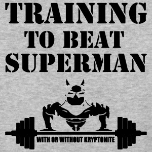 Training to beat superman - Baseball T-Shirt