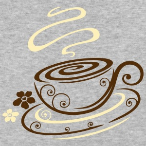 Filigree coffee cup with floral elements. - Baseball T-Shirt