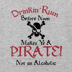 Drinking Rum Before Noon Makes Ye a Pirate, Light - Baseball T-Shirt