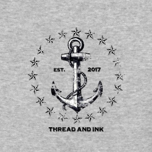 Vintage Nautical Anchor and Stars. Traditional tee - Baseball T-Shirt
