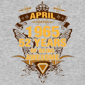 April 1965 52 Years of Being Awesome - Baseball T-Shirt