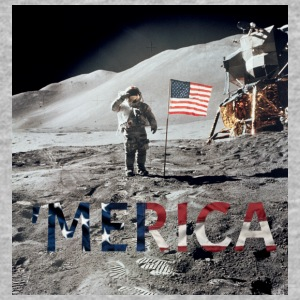 MERICA MOON - Baseball T-Shirt