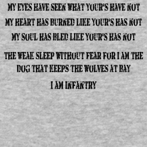 I Am Infantry - Baseball T-Shirt