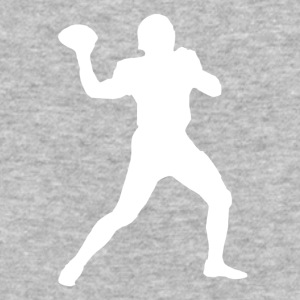 Football Quarterback Silhouette - Baseball T-Shirt
