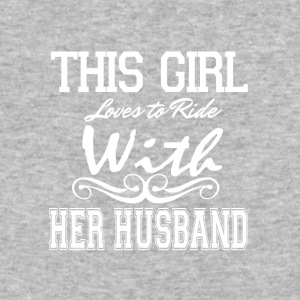 This Girl Loves Riding With Her Husband T Shirt - Baseball T-Shirt